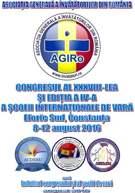 Coperta buletinului congresului AGIRo 2016